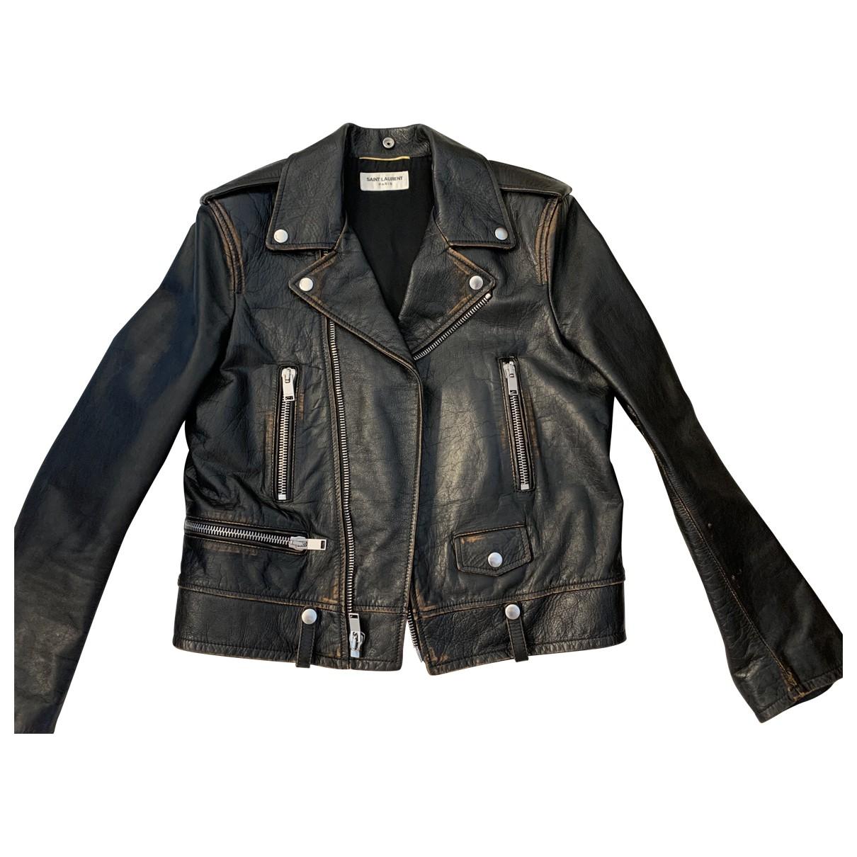 Saint Laurent N Brown Leather Jacket for Women