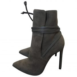 Saint Laurent N Grey Suede Ankle boots for Women