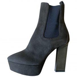 Saint Laurent N Khaki Suede Ankle boots for Women