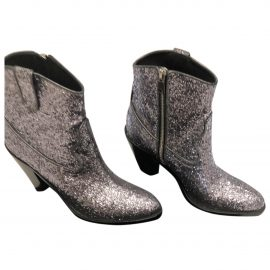 Saint Laurent N Silver Glitter Ankle boots for Women