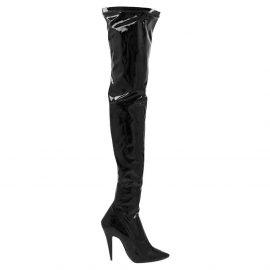 Saint Laurent Paris Black Leather Aylah over-the-knee Boots Size EU 39