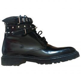 Saint Laurent Patent leather biker boots