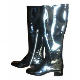 Saint Laurent Patent leather riding boots