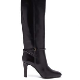 Saint Laurent - Romy Knee-high Leather Boots - Womens - Black