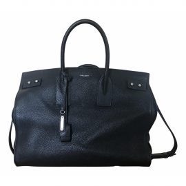 Saint Laurent Sac de Jour 48H Black Leather Bag for Men