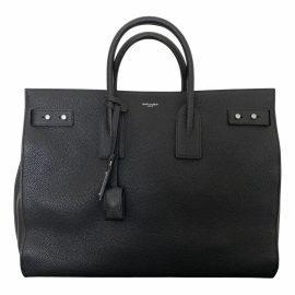 Saint Laurent Sac de Jour Black Leather Bag for Men