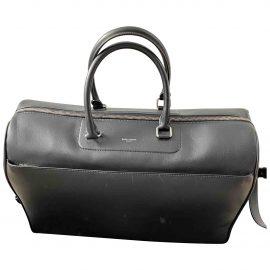 Saint Laurent Sac de Jour Duffle 48h Black Leather Bag for Men