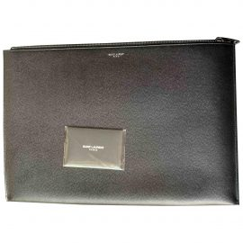 Saint Laurent Shopping leather clutch bag