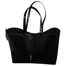 Saint Laurent Shopping patent leather travel bag