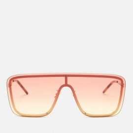 Saint Laurent Women's D-Frame Mask Sunglasses - Gold