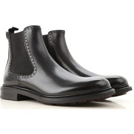Salvatore Ferragamo Chelsea Boots for Men On Sale in Outlet, Black, Leather, 2021, 10.5 6.5 7 7.5 8