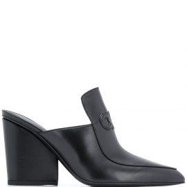 Salvatore Ferragamo Gancini 100mm pointed leather mules - Black