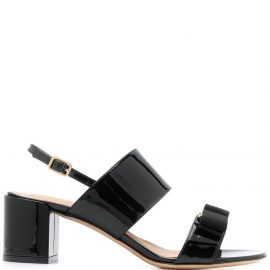 Salvatore Ferragamo Giulia mid-heel bow sandals - Black