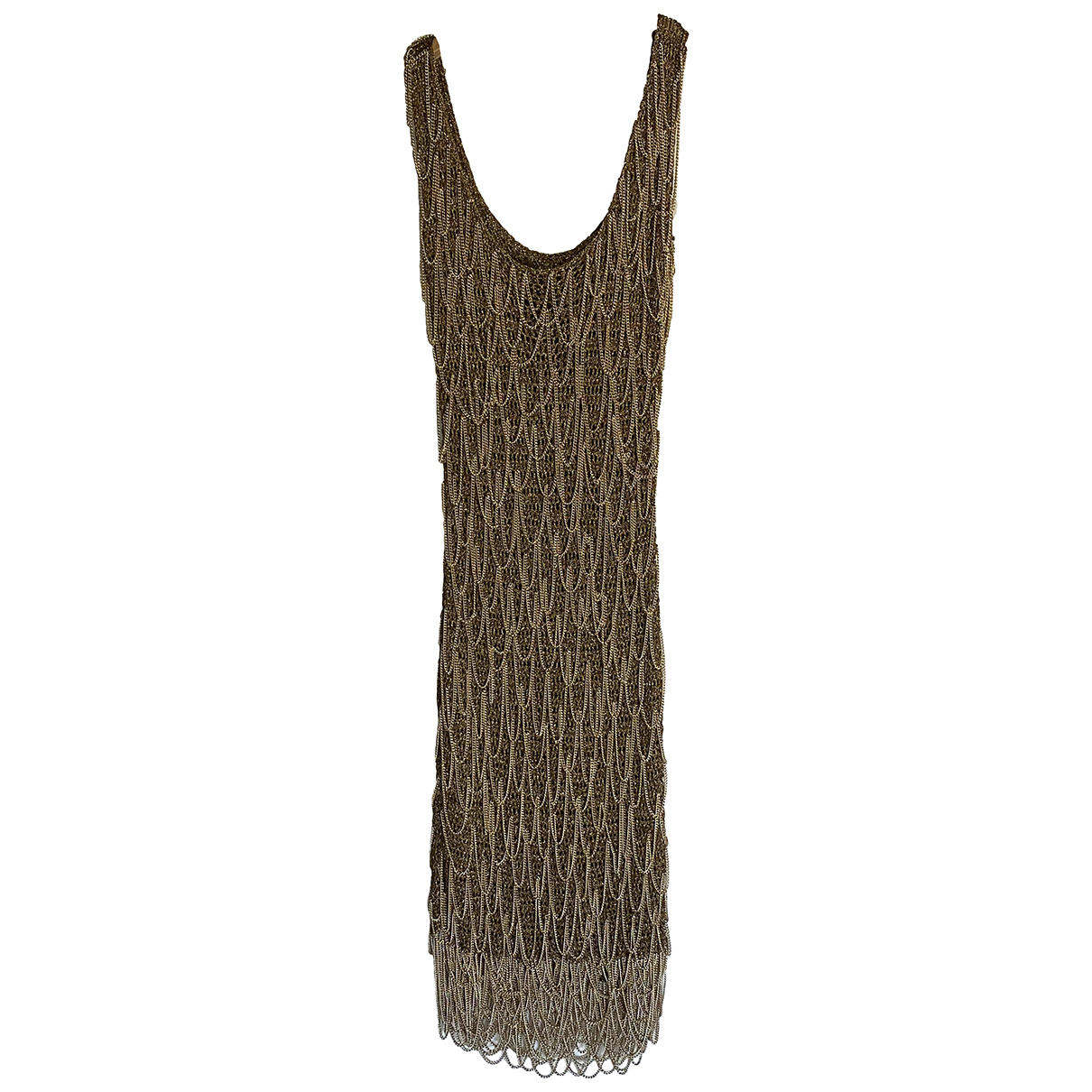 Salvatore Ferragamo N Gold Glitter Dress for Women