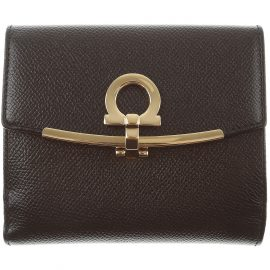 Salvatore Ferragamo Wallet for Women On Sale, Black, Calf-skin Leather, 2021