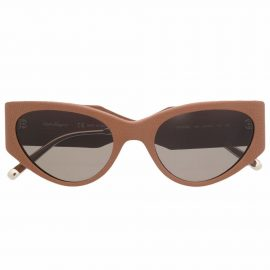 Salvatore Ferragamo cat-eye frame sunglasses - Neutrals