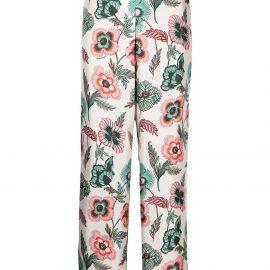 Salvatore Ferragamo poppy-print silk pyjama trousers - Neutrals