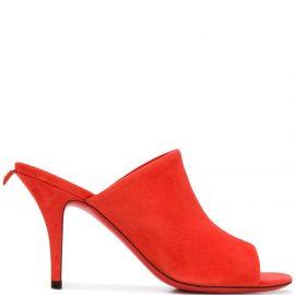 Salvatore Ferragamo suede stiletto mules - Red