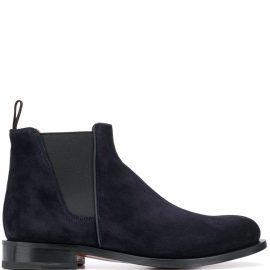 Santoni almond toe Chelsea boots - Blue