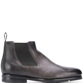 Santoni elasticated panel Chelsea boots - Grey