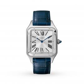 Santos-Dumont watch, Large model, steel, leather