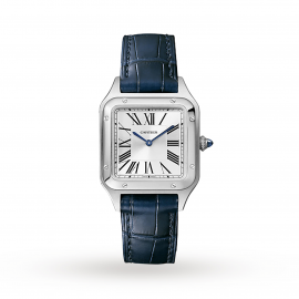 Santos-Dumont watch, Small model, steel, leather