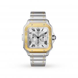Santos de Cartier Chronograph watch, XL model, chronograp ...