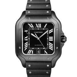 Santos de Cartier Large Stainless Steel Two-Strap Watch
