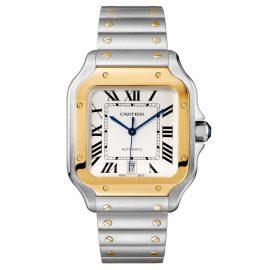 Santos de Cartier, Large model, yellow gold & steel