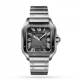 Santos de Cartier watch Large model, automatic, steel, AD ...