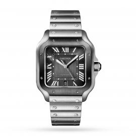 Santos de Cartier watch Large model, automatic, steel, AD ...
