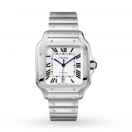 Santos de Cartier watch, Large model, automatic, steel, i ...