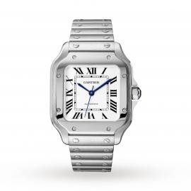 Santos de Cartier watch, Medium model, automatic, steel, ...
