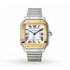 Santos de Cartier watch, Medium model, automatic, yellow ...