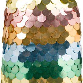 Sara Battaglia sequin mini skirt - GOLD