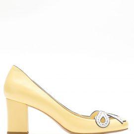 Sarah Chofakian Audrey leather pumps - Yellow