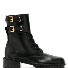 Sarah Chofakian Sarah leather combat boots - Black