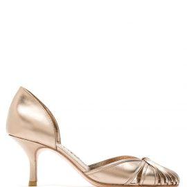 Sarah Chofakian Sarah leather pumps - GOLD