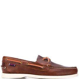 Sebago Docksides Portland leather boat shoes - Brown