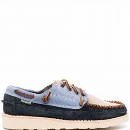 Sebago colour-block leather boat shoes - Blue