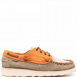 Sebago colour-block leather boat shoes - Neutrals