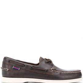 Sebago lace-detail boat shoes - Brown