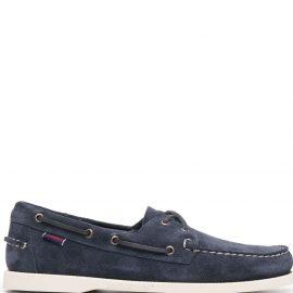 Sebago lace-up detail boat shoes - Blue