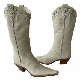 Sergio Rossi Leather cowboy boots