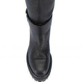 Sergio Rossi Logomaniac knee-high boots - Black