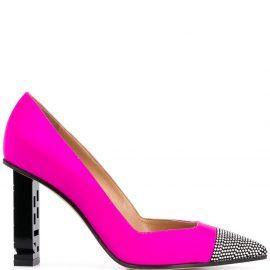 Sergio Rossi embellished toe pumps - PINK