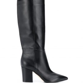 Sergio Rossi knee high leather boots - Black
