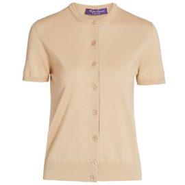 Short-Sleeve Cashmere Cardigan