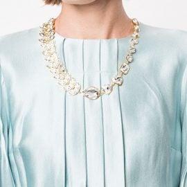 Shourouk leaf necklace - Metallic
