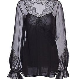 Silk Chiffon Lace Blouse